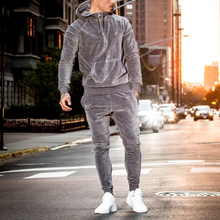 2017 new stylish plain cotton bulk velour sweatsuit custom velvet tracksuit men