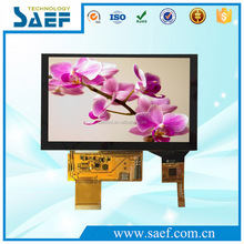 lcd monitor with tft lcd resolution 800x480 40pin Touch Panel Screen 5 inch lcd display