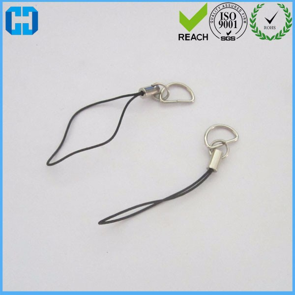 Best Cell Mobile Phone Strap Keychain with Silver Tone D Ring