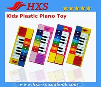 Fasion Designed Plastic Kids Toy Music Instrument Children Piano Toy 13 Buttons