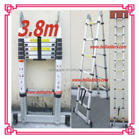 3.8m Double Aluminum Domistic Telescopic collapsible Ladder
