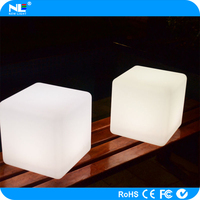 Alibaba hot sale LED cube lighting chairs / colorful plastic LED cube tables / LED magic cube furniture