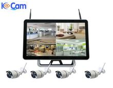 New touch screen nvr dvr with wireless ip camera digital video recorder ce rohs wireless surveillance kit