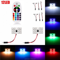 RGB 5050 12SMD 15SMD 24SMD 36SMD Full Color Auto Led Atmosphere Lamp LED T10 / BA9S / Festoon Adapt