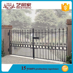 Factory price latest cheap steel gate decorations/samples for steel gate/house gate