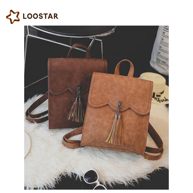 Loostar Low MOQ Fashional and Nice Beautiful Girl Backpack <strong>School</strong>