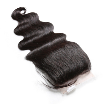 Peruvian top grade unprocessed 100% human hair cheap wholesale price 4*4 lace closure body wave