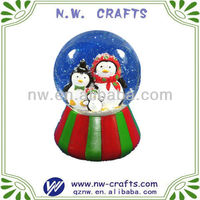 Cute christmas snow globe with penguin design