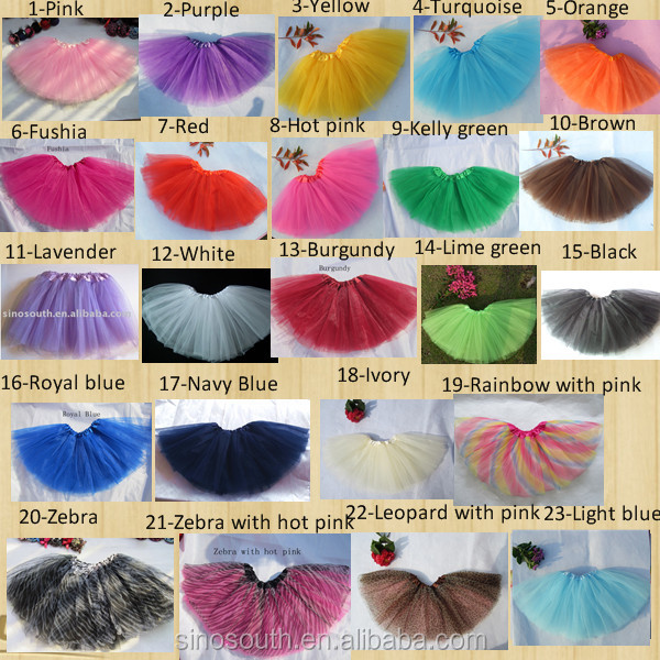 Wholesale Tulle Fluffy Ballet Baby Tutu Skirt For Girls Mixed 23 Colors