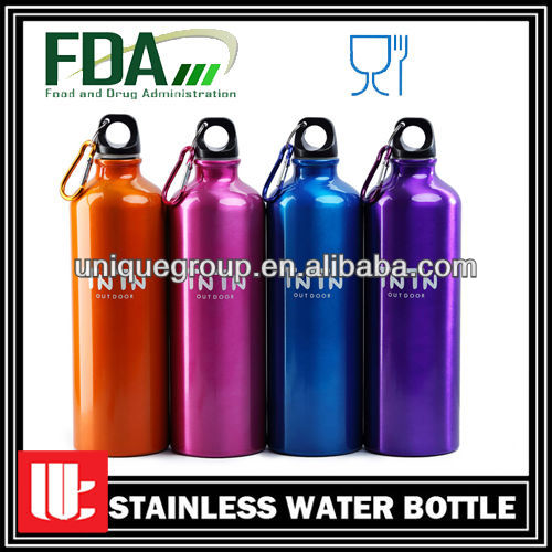 750ml Carabiner Lid Bpa Free Customized Aluminum Water Bottle