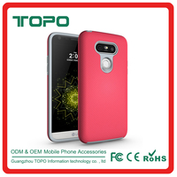 Korea design hybrid plastic Silicone material wholesale mobile accessories hard PC cushioning shockproof shell case for LG G4 G5