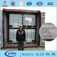 99.8%min IBC drum packing industial acetic acid price