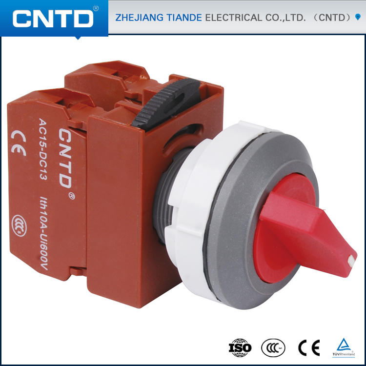 CNTD Latest Products Short Handle Knob Interlock Small Push Button Switch