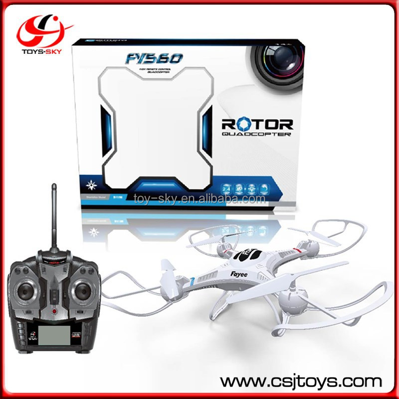 FY560 Headless mode RC l6038 2.4G Six Axis gyro 4 Rotor large rc drone helicopter with 0.3mpx and 2.0mpx camera for selection