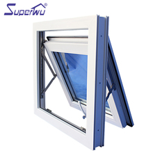 Double glass grill insert single glazing pvc top hung window