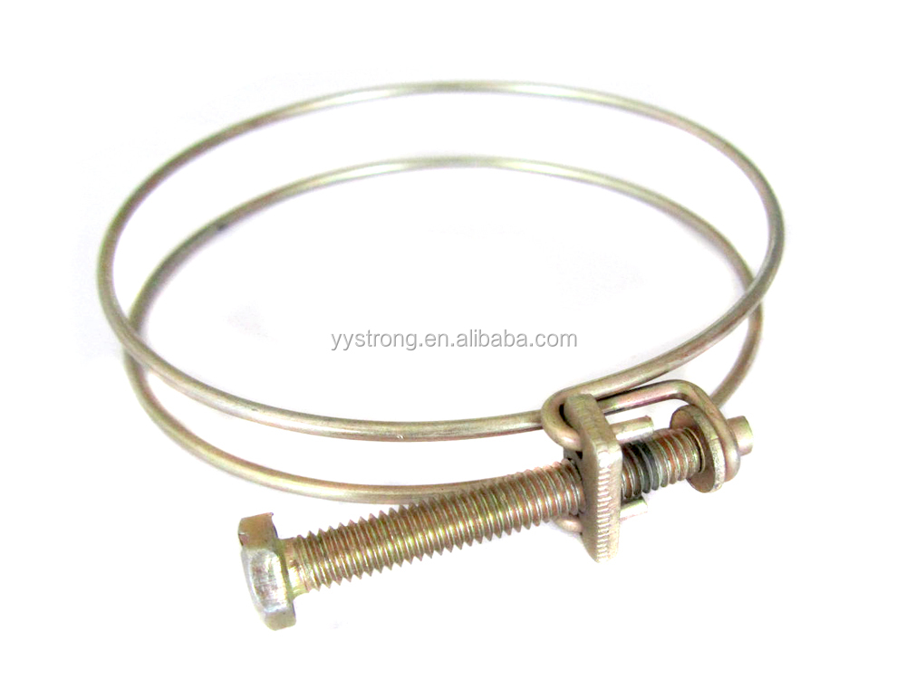 China manufacturer high quality double wire hose clamp