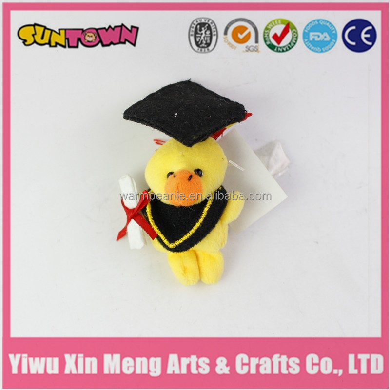 cute animal graduation duck stuffed animal plush toy