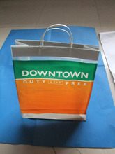 plastic hard loop handle shopping bag
