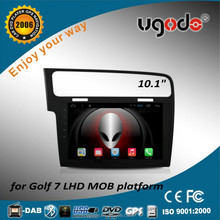 ugode U9 Android 4.4 10.1inch big HD1024 touch pad screen Car Audio player DVD GPS for VW Volkswagen Golf 7 MOQ platform
