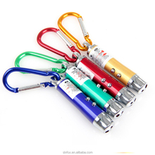1LED +1 Blue Light+ 1Red Laser Torch Keychain Gift Torch Party Flashlight