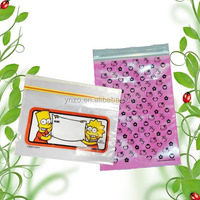 Small transparent storage packaging zipper pouch bag