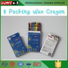 Set Packing 6 Pieces Colored 3.5'' Non-toxic Wax Crayon