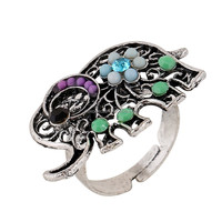 Factory Direct Sell Hot Design Fashion Jewelry Wholesale Elephant Stype Adjustable Rings