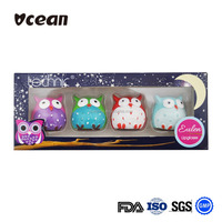 New Promotional Gift Set Lipbalm In Owl Shaped Lip Balm Container For Hot Sale