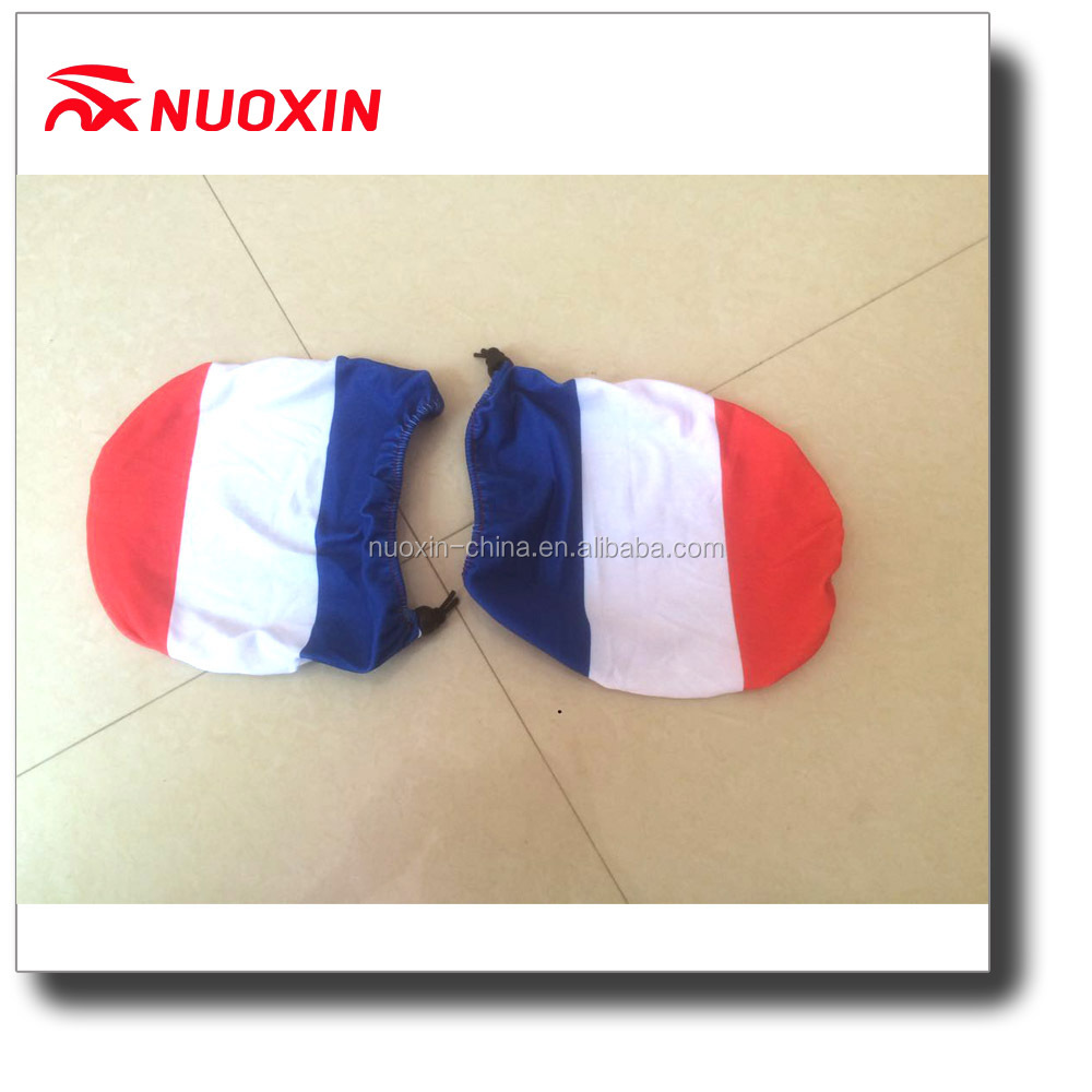 100% Spandex polyester French country flag car side mirror flag