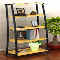 New style furniture MDF metal Bookcase