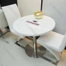 engineering quartz round stone top dining tables