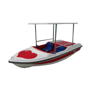Water Pedalo Boat 4 Seats Water Park Fiberglass Foot Power Family Pedal Boat
