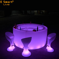 luminous cocktail table / glow mobile cocktail led bar counter/ led portable cocktail bar furntiure