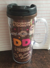 wholesale double wall plastic starbucks acrylic plastic tumbler with straw