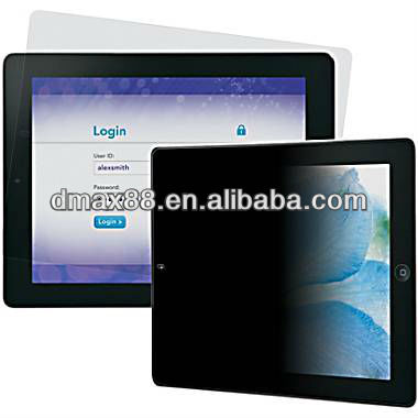 Hot selling 3M privacy screen guard for iPad 2 oem/odm (Privacy)