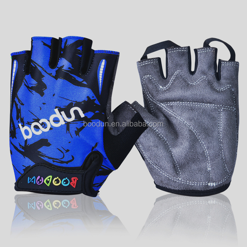high quality professional hot sell custom made dirt bike half finger bicycle kids children gloves