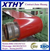 ASTM A792 ral 9003 6001 3020 PPGI COIL aluzinc steel coil roofing material