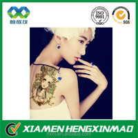 Xiamen safe body skin temporary tattoo sticker printing