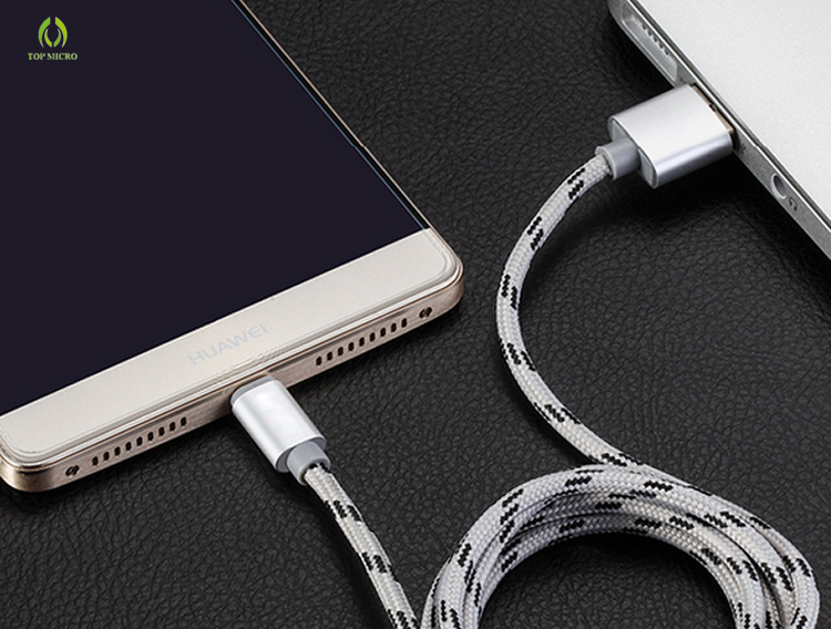 Wholesale Quick Charge Nylon Braided Data Line for iphone/Type-C/Android Micro USB Cable