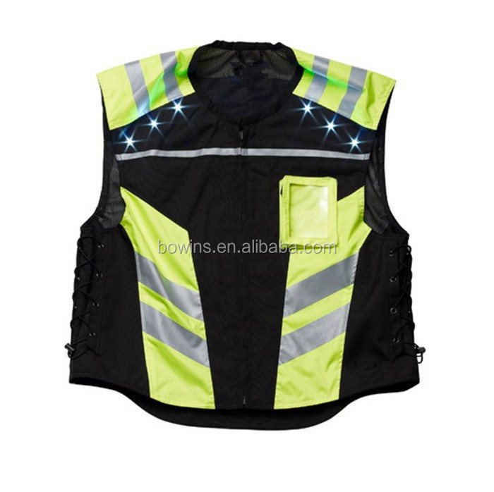 Wholesale reflective LED motorcycle vest