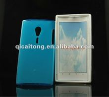 mobilephone tpu puding case for sony xperia ion LT28i