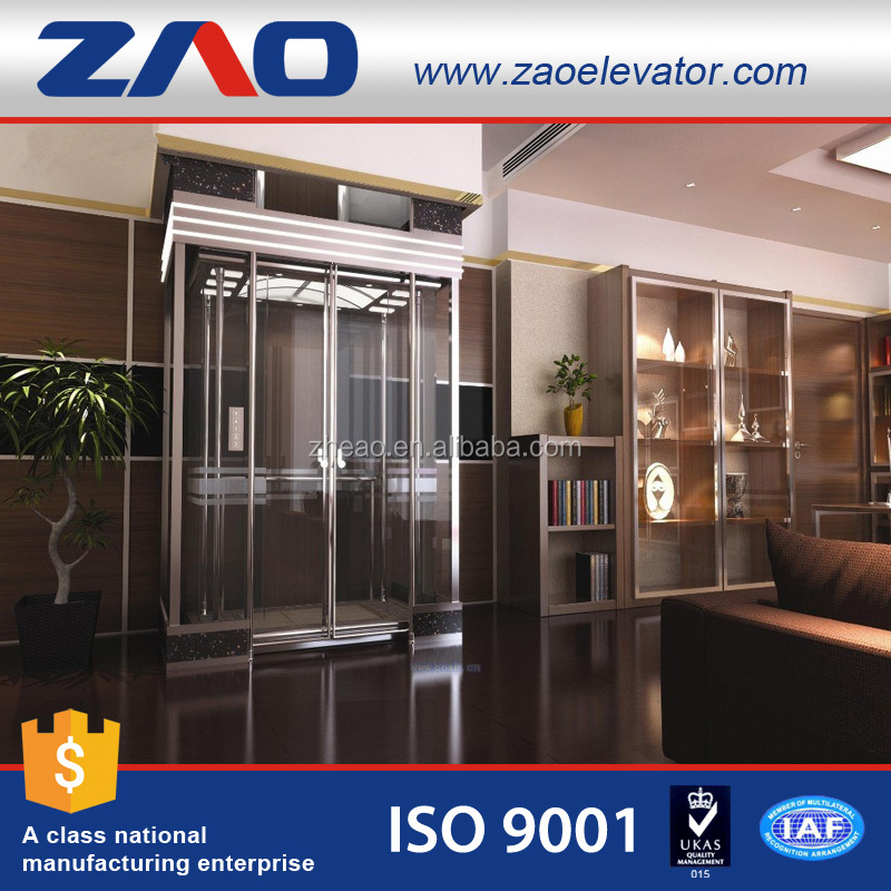Comfortable And Luxury Home Escalator Passenger Lift Small Home Elevator