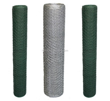 Galvanized and pvc coated hexagonal wire netting / poultry farm netting / chicken wire mesh