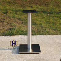 2016 Quadrate brushed stainless steel table leg stainless steel chassis restaurant table frame Coffee room furniture legs