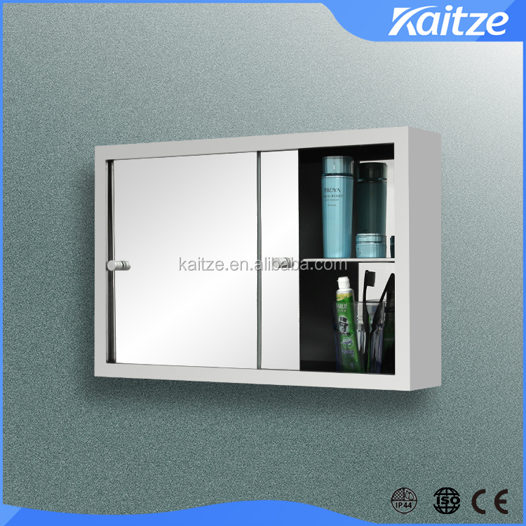 sliding stainless steel bathroom mirror cabinet medicine