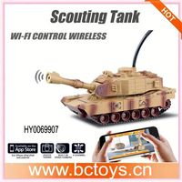JD805 New Wireless Andriod by Iphone wifi controlled spy tank with camera camera shooting spy rover tank