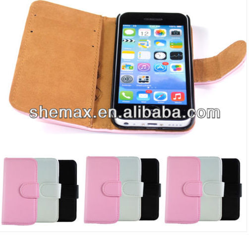 PU Leather Magnetic Flip Wallet Card Holder Cover Case for New iPhone 5G 5S 5C