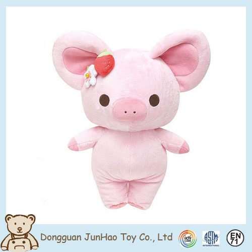 Hot Sale Fancy Soft Boa Long Eear Stuffed Pig Plush Toy for Kids
