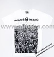 T-shirt photo white Woodstock