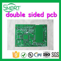 Smart bes OEM Double Sided PCB with 0.5oz Finished Copper Red Soldermask, PCB tv tuner